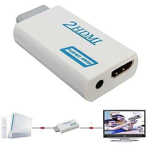 Hscd1976Wii vers HDMI HD 1080p convertisseur vidéo adaptateur audio 3,5mm