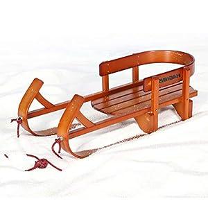 YZ-Sled Hölzerne Richtschlitten Kinderzugseile [Schneeauto] Ski Freestyle-Ski (92 * 40 * 30cm)