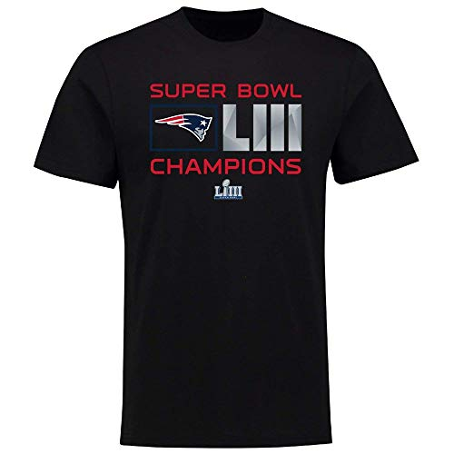 New England Patriots T-Shirt Superbowl Champions LIII Extra Point Football (L) ()