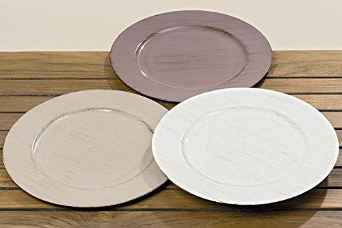 3 Stück PLATZTELLER - ESMEO - sortiert, 33 cm