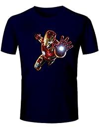 T Shirt Iron Man Printed T Shirt - Men's 100% Cotton Round Neck Iron Man Printed T Shirt