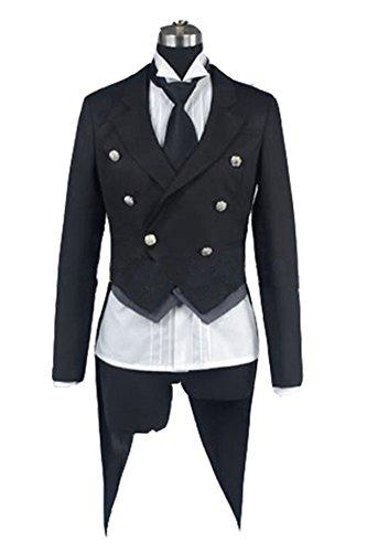 Kostüm Butler Sebastian Black - Fuman Black Butler Kuroshitsuji Sebastian Cosplay Kostüm M