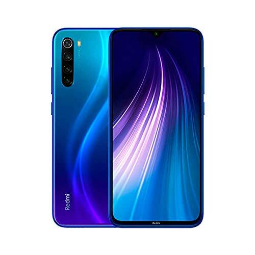 """Xiaomi Redmi Note 8 Teléfono 3GB RAM + 32GB ROM, Pantalla Completa de 6.3"""",Procesador Snapdragon 665 Octa-Core, 13MP Frontal y 48MP AI Cuatro Cámara Trasera Móviles Versión Global (Azul)"""