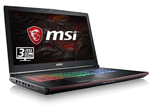 MSI GE72MVR 7RG-069DE Apache Pro (43,9 cm/17,3 Zoll/120Hz) Gaming-Notebook (Intel Core i7-7700HQ, 16GB RAM, 256 GB SSD + 1 TB HDD, Nvidia GeForce GTX 1070 mit 8GB, Windows 10 Home) schwarz GE72