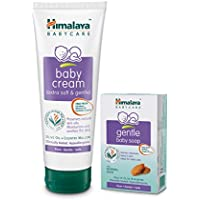 Himalaya Baby Cream 200ml with Gentle Baby Soap, 125g