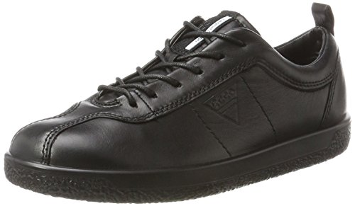 Ecco Leder-sneakers (Ecco Damen Soft 1 Sneaker, Schwarz (Black), 38 EU (5 UK))