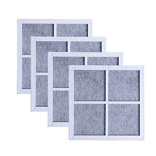 Nicolarisin 4 Stück 3,15 x 3,15 Zoll Hellgrau Filter Kühlschrank Luftfilter Luftreiniger Filterkern Armaturen für LG LT120F - Lg Kühlschrank Filter Air