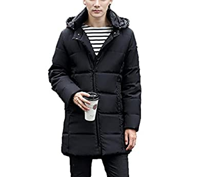LQABW Winter New Men Down Jacket Hood Padded Quilted Coat Traveling Walking by LQABW
