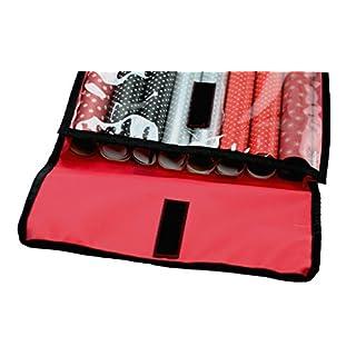 autooptimierer Geschenkpapier Aufbewahrungstasche Rot Organizer Universal Aufbewahrung 8 Rollen Geschenkpapierorganizer Flach