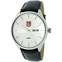 RADIANT Reloj analógico de caballero F.C.BARCELONA - Correa de piel - Calendario - BA-17601 Retro