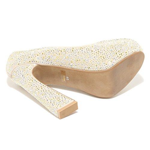 4381M decollete donna JEFFREY CAMPBELL eva studs tessuto scarpe women shoes Beige