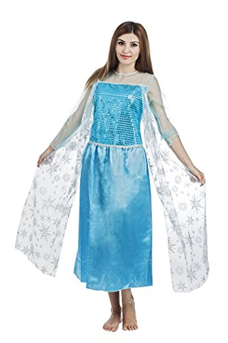 Unbekannt P 'tit Clown re15367-Kostüm Erwachsene Königin der Eis (Erwachsene Königin Elsa Kostüme)