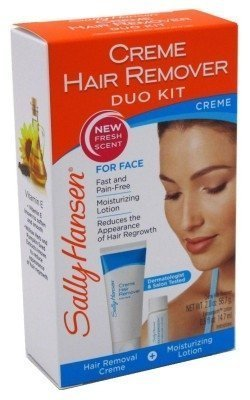 Ladies Sally Hansen Creme Hair Removal Kit Face, Lip, Chin With Lotion 51.7ml -