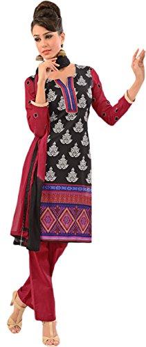 Tangerines Tfw Black Color Unstitched Salwar Kameez Dress Material