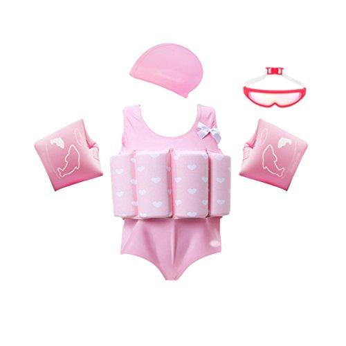Yujeet Baby Auftrieb Streifen Bademode Sonnenschutz Vier Sätze Einteiliger Badeanzug 100