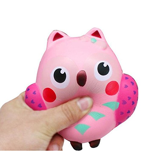 jysport squishies juguete, Slow Rising Squeeze Soft Toy, Stress Relief–Pelota antiestrés Peluche Llavero, búho