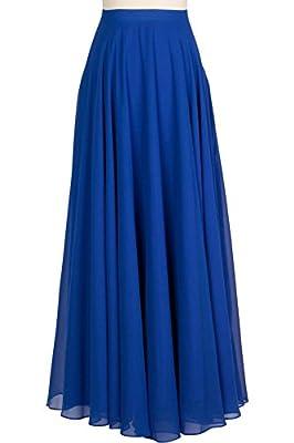 JANAK Women's Georgette Skirt (DN160, Blue, 40)
