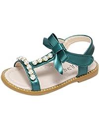 Kinder Mädchen Kristall Bowknot Sandalen Peep Toe High Heels Prinzessin Schuhe