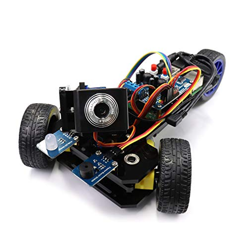 Freenove Three-Wheeled Smart Car Kit for Raspberry Pi 4 B 3 B+, Robot Project, Tutorial and Code, Android APP, Video Camera Wi-Fi Wireless RC Servo Ultrasonic