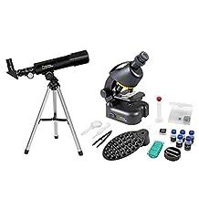 National Geographic telescopische en microscoopset voor kinderen en beginners, inclusief smartphone-camera-adapter en uitgebreide accessoires