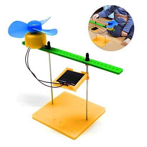 Zerodis Solar Physics Experiment Kit Mini Solargenerator Generation DC Motor Fan DIY Physik Motor Schaltgerät Kit Wissenschaft Spielzeug für pädagogische Wissenschaft Projekte -