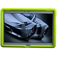 "MingShore Huawei + Harman Kardon MediaPad M2 10.0 Octa Core 10.1"" Tablet Silicona Rugged Case M2-A01L M2-A01W Cubierta a prueba de golpes 【Verde】"