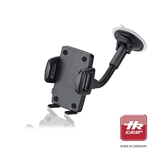 "HR Grip Flex Kit Universal Suction Dashboard and Windsheild Car Mount Holder for iPhone 5S/5C/5/4S/4, Samsung Galaxy S4/S3, most 5"" Smartphones and MP3 Players"