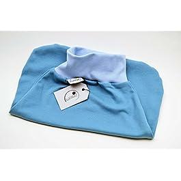 Strampelsack aus Bio-Baumwolle, Schlafsack zum Pucken, Babys und Kinder, 50 56, für Bett Kinderwagen, blau hellblau, Mädchen Jungen