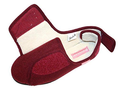 Made By Dunlop for Brookland Shoes Damen Hausschuhe Wein