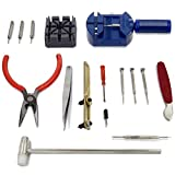 MMOBIEL - Kit Complet Professionnel (16 pièces) Compatible avec réparation de Montres/Horlogerie