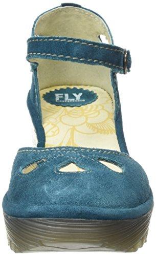 Fly London Yuna, Sandales femme Bleu (Bleu Pétrole)