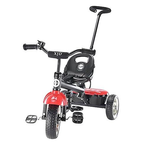Roulette en mousse, chariot bébé, trois rondes de vélo, pliant peut prendre un mini vélo portable ( Couleur : Rouge )
