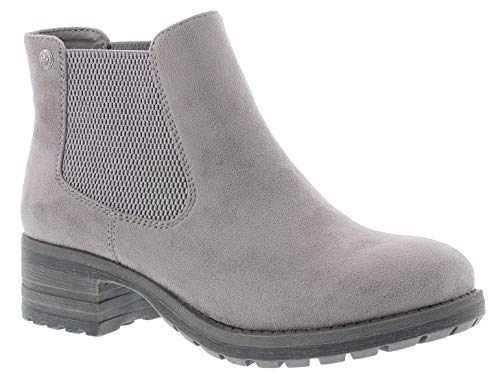 Rieker Damen Stiefel 96884, Frauen Winterstiefel, Women Woman Freizeit leger Winter-Boots halbschaftstiefel gefüttert warm,Grey,38 EU / 5 UK