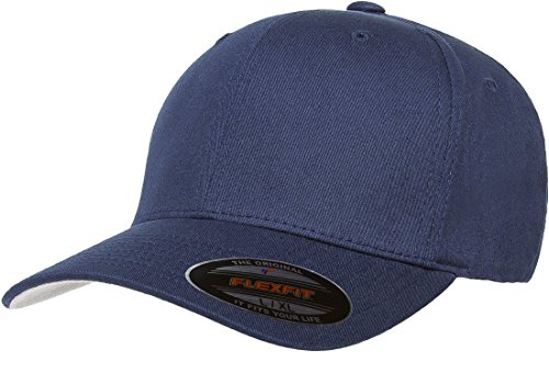 Flexfit/Yupoong Herren Cotton Twill Fitted Cap Mütze, Navy, Small/Medium Twill-fitted Cap