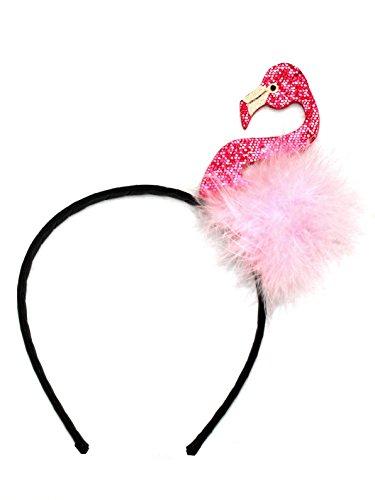 o Kostüm Haarreif Junggesellinnenabschied Karneval Fasching Pink Rosa Accessoire für Erwachsene und Kinder (Rosa Flamingo Kostüm)