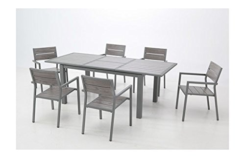 Table aluminium extensible Dark 152 – 210 x 90 cm