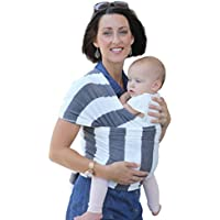 Baby Carrier Slings - Premium Cotton Original Baby Wrap Multiple Positions Soft and Lightweight Sling for Newborn Infants from Birth (Grey Stripes)