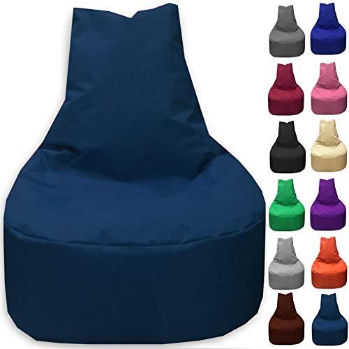 Sitzbag Sitzsack Sessel XL - XXL für Kinder und Erwachsene - In & Outdoor Sitzsäcke Kissen Sofa Hocker Sitzkissen Bodenkissen (XL - 68cm Durchmesser, Marineblau)