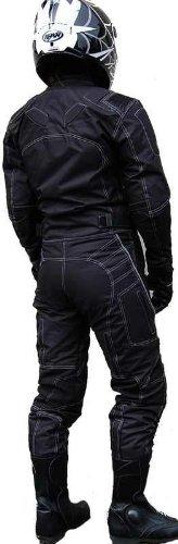 DAMEN MOTORRADKOMBI JACKE + HOSE - ATMUNGSAKTIV WIND+WASSERDICHT - BIKE MOTORRAD ROCKER TOURING - 2