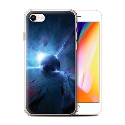 Offiziell Chris Cold Hülle / Gel TPU Case für Apple iPhone 8 / Raumfahrzeug Muster / Galaktische Welt Kollektion Pulsar/Neutron Stern