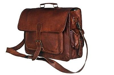 Urbankrafted New Mens en cuir véritable Vintage Laptop Messenger sac à main fait main sacoche sacoche