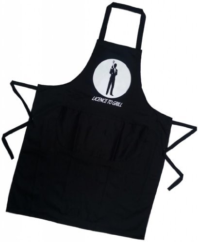 Licence to Grill James Bond 007 Novelty Apron for Men & Women, BBQ or Kitchen. Fantastic Gift! by Silver Bullet Trading