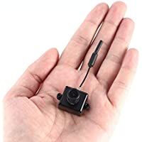 LST-S1 AIO 800TVL CMOS Mini Cámara FPV CAM RC Accesorios de Piezas de Juguete con 5.8G 40CH 25mW Antena VTX 3dBi Whip (Color: Negro)