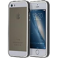doupi SuperSlim TPU Bumper quadro della protezione Case per iPhone 5 5S SE Copertura Silicon Custodia Caso Cover nero