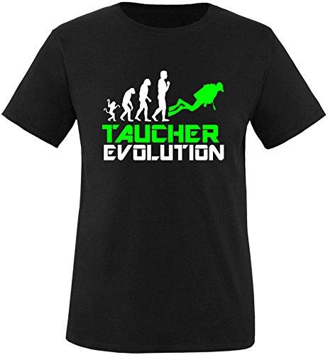 EZYshirt® Taucher Evolution Herren Rundhals T-Shirt Schwarz/Weiss/Neongr