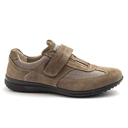 Grisport - scarpa sportiva 41610 tortora con velcro - 41610veesuvio 22-42 eu