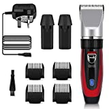 GHB Hair Clipper Rechargeable Hair Trimmer Electric Cordless Haircut Kit Ceramic Blade for Men Kids Adults