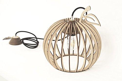 Hölzernes hängendes Licht - braune hölzerne handgemachte Lampe - moderne KIRSCHFORM form-hängende Lampe - einzigartiges Innenlicht - exklusives hängendes Licht – VERFÜGBAR IN APFEL, BIRNEN