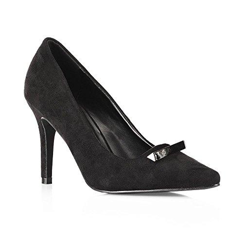Tresmode Women's Synthetic Classic Black Stilettos