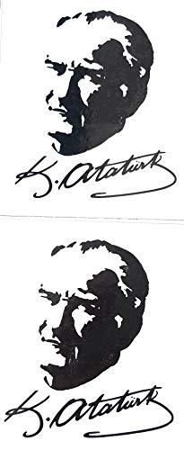 nationshirt Atatürk Tattoo 2 x Einmaltattoo Imza Logo Temporary Aufkleber Tattoo Dövme Atam Türkei CHP Vatan Resim -